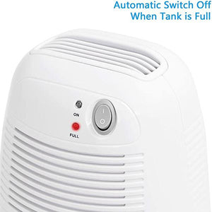 Electric Mini Dehumidifier with Auto Shut-Off  for Bedroom, Bathroom, Wardrobes, Bookcases Basement, Kitchen, Garage