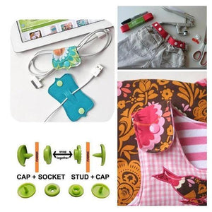 【50% OFF THE TOP 100 ONLY TODAY】DIY Crafting Colorful Snap Buttons Kit