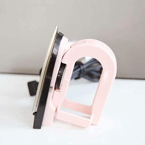 Portable Mini Folding Iron - Dust-Proof Compact Small for Travel Trip School Home Clothes