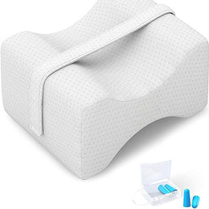 Comfort Pure Memory Foam Knee Pillow with Adjustable and Removable Strap