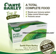 Load image into Gallery viewer, Sante Barley Pure Barley Grass Powder Juice(30sachets x 3g )