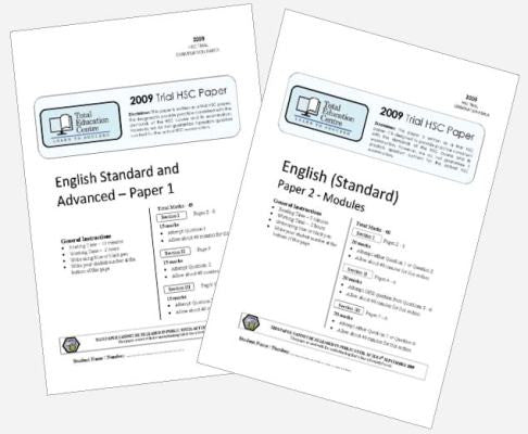 2009 Trial A HSC English Standard Papers 1 & 2