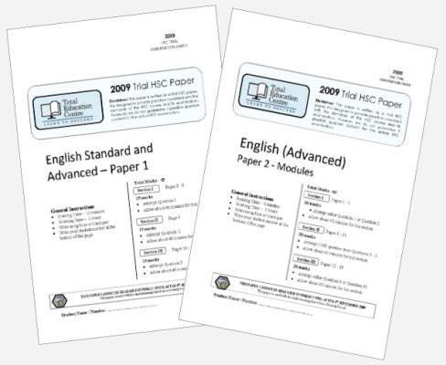 2009 Trial A HSC English Advanced Papers 1 & 2