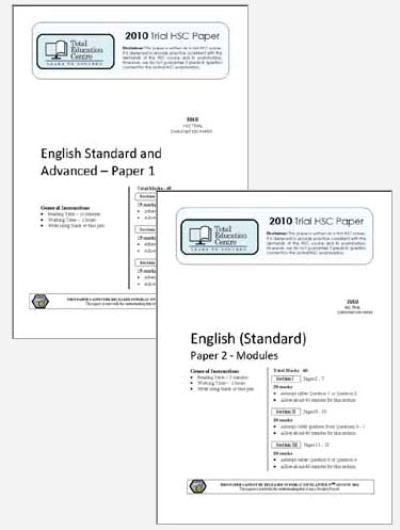 2010 Trial A HSC English Standard Papers 1 & 2