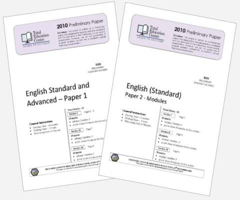 2010 Trial Preliminary English Standard Papers 1 & 2