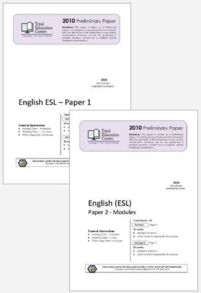 2010 Trial Preliminary ESL - Papers 1 and 2