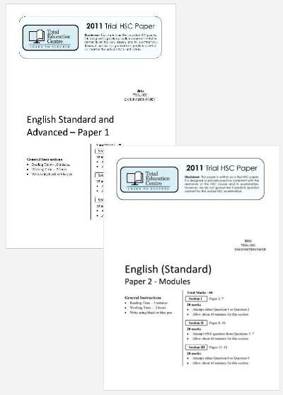 2011 Trial A HSC English Standard Papers 1 & 2