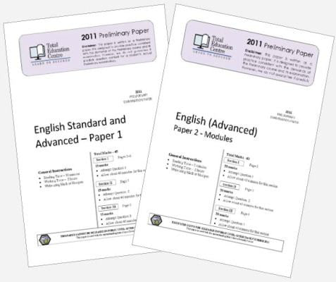 2011 Trial Preliminary English Advanced Papers 1 & 2
