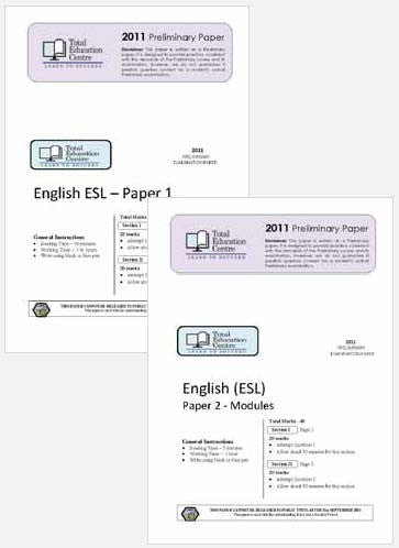 2011 Trial Preliminary ESL - Papers 1 and 2