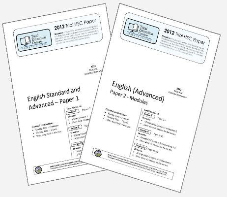 2012 Trial HSC English Advanced Papers 1 & 2