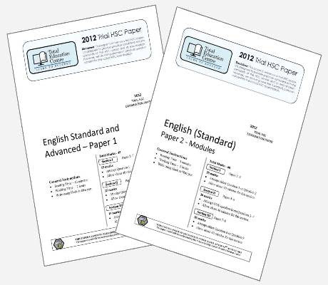2012 Trial HSC English Standard Papers 1 & 2