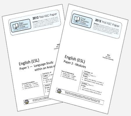 2012 Trial HSC English ESL P1&2