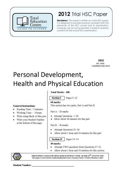 2012 Trial HSC PDHPE