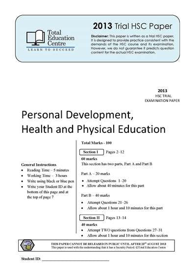2013 Trial HSC PDHPE