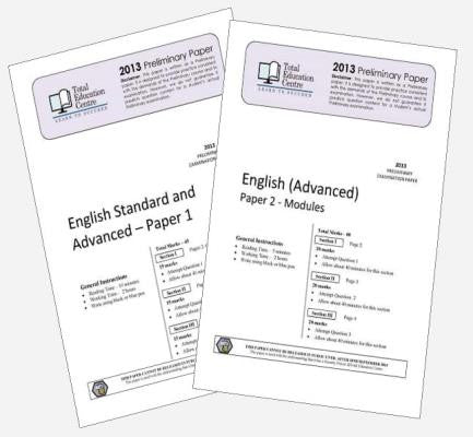 2013 Trial Preliminary English Advanced Papers 1 & 2