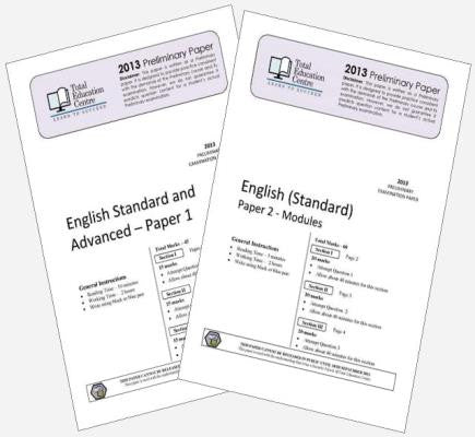 2013 Trial Preliminary English Standard Papers 1 & 2