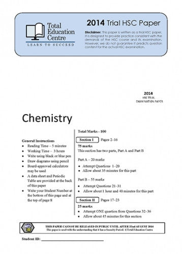 2014 Trial HSC Chemistry paper