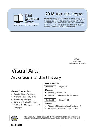 2016 Trial HSC Visual Arts