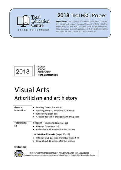 2018 Trial HSC Visual Arts