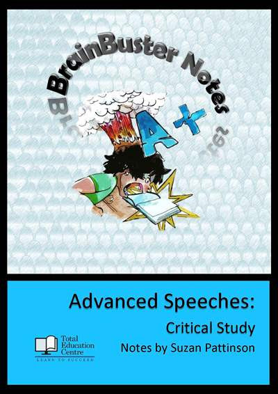 Speeches Advanced - Brainbuster Notes