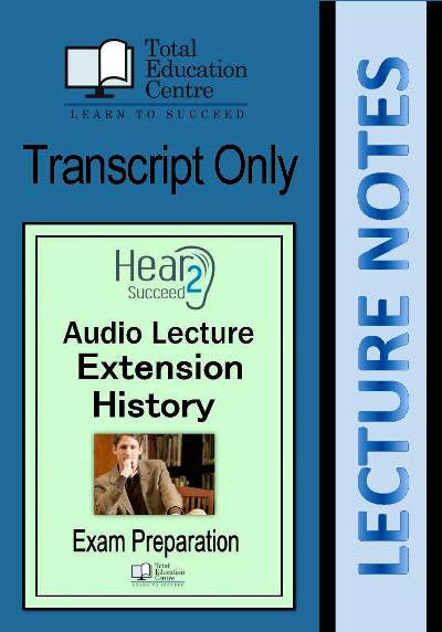 Hear2Succeed Extension History Exam Preparation Notes