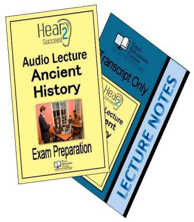 Hear2Succeed Ancient History Exam Preparation Package