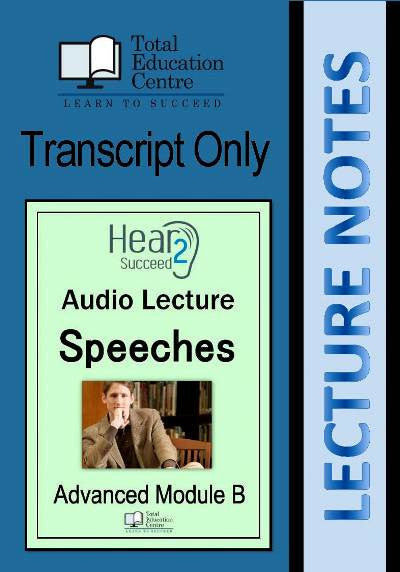 Hear2Succeed English Advanced Speeches Notes