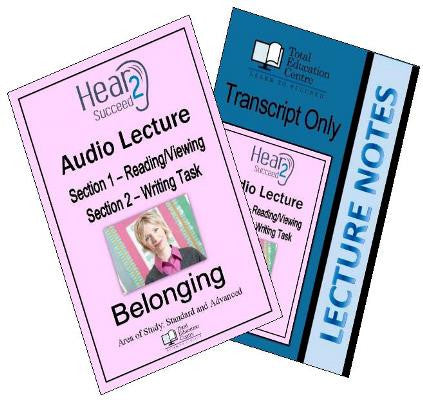 Hear2Succeed English Belonging Section 1 and 2 Package
