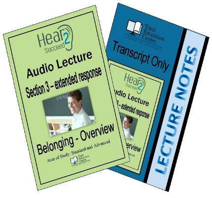 Hear2Succeed English Belonging Section 3 Package