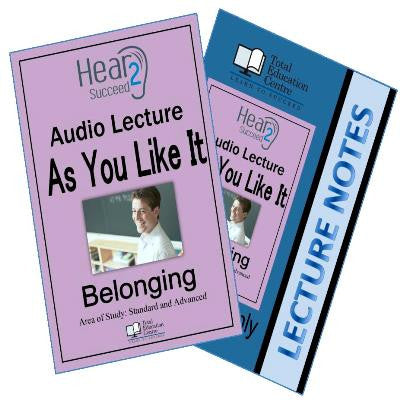Hear2Succeed English Belonging As You Like It Package