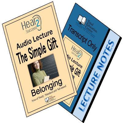Hear2Succeed English Belonging The Simple Gift Package