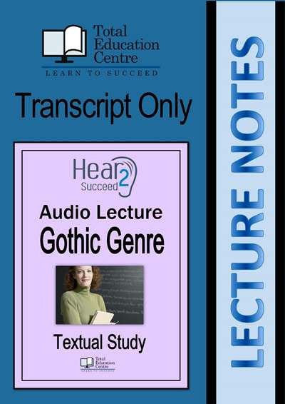 Hear2Succeed English Gothic Genre Notes