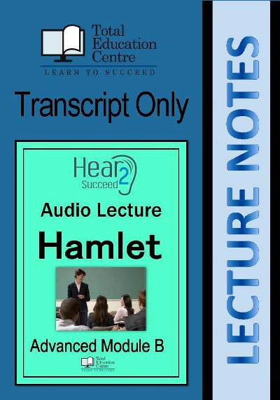 Hear2Succeed English Advanced Hamlet Notes