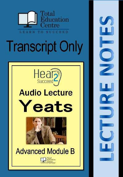 Hear2Succeed English Advanced Yeats Notes