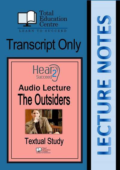 Hear2Succeed English The Outsiders Notes