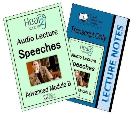 Hear2Succeed English Advanced Speeches Package