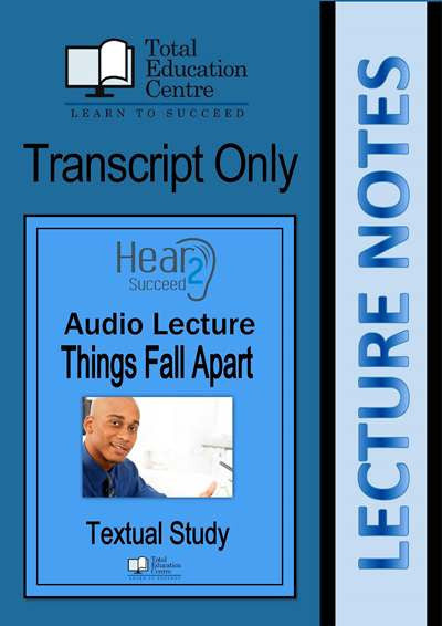 Hear2Succeed English Things Fall Apart Notes