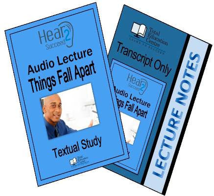 Hear2Succeed English Things Fall Apart Package