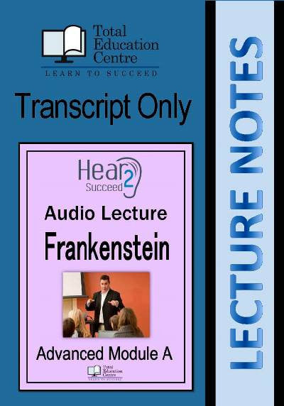 Hear2Succeed English Frankenstein Study Notes