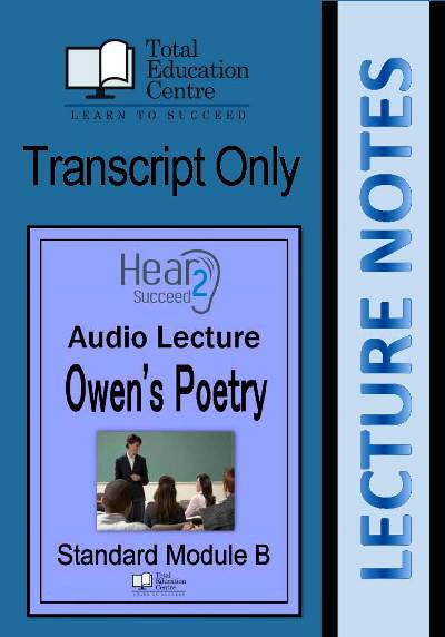 Hear2Succeed English Standard Owen's poetry Notes