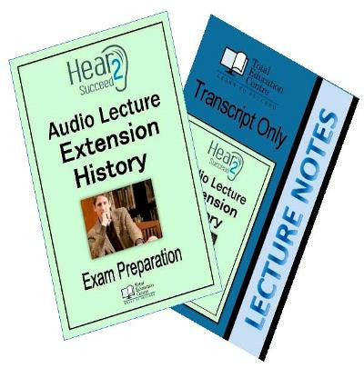 Hear2Succeed Extension History Exam Preparation Package