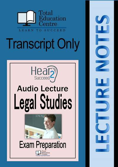 Hear2Succeed Legal Studies Exam Preparation Notes