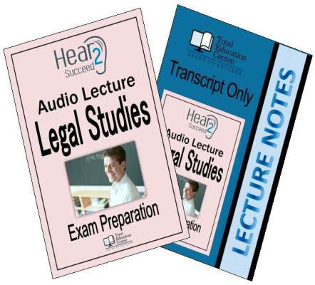 Hear2Succeed Legal Studies Exam Preparation Package