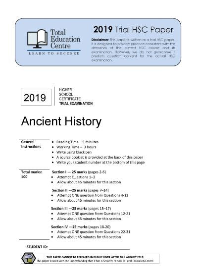 2019 Trial HSC Ancient History