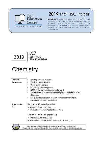 2019 Trial HSC Chemistry