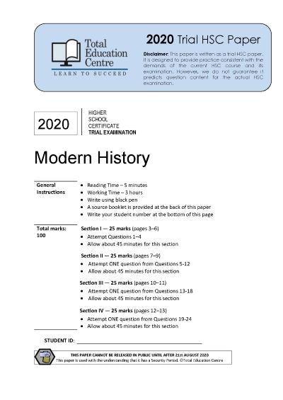 2020 Trial HSC Modern History