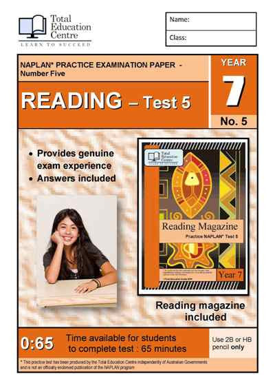 Year 7 NAPLAN Reading Test 5