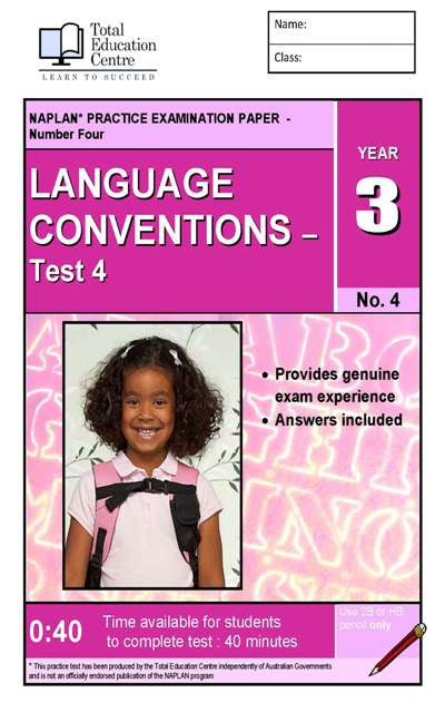 Yr 3 Language Conventions Test 4
