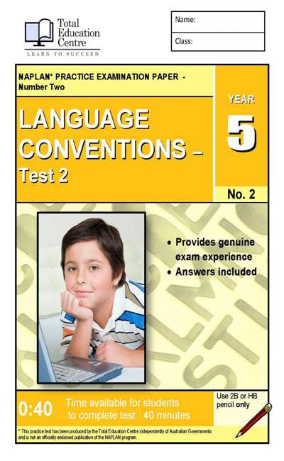 Yr 5 Language Conventions Test 2