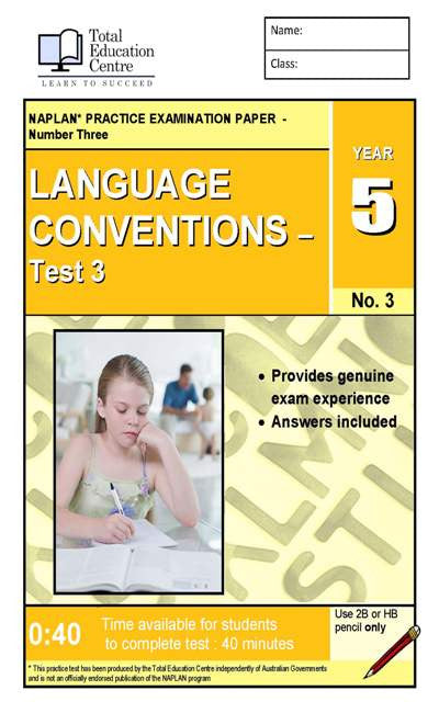 Yr 5 Language Conventions Test 3